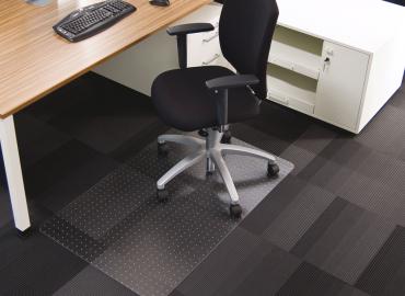 Darstellung des Produktes Rollsafe® für kurzflorige Teppiche und harte Böden