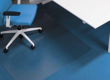 Darstellung des Produktes Bodenschutzmatte 'wertlegen' für Teppiche und harte Bödenboden