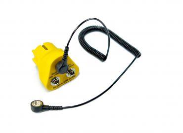 Darstellung des Produktes Erdungsbaustein in schwarz/gelb